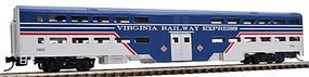 WheelsOfTime Bi-Level Commuter Coach Virginia Railway Express N Scale Model Train Passenger Car #11103