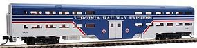 WheelsOfTime Bi-Level Commuter Coach Virginia Railway Express N Scale Model Train Passenger Car #11128