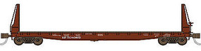 WheelsOfTime Welded Fish Belly Bulkhead Flatcar Southern Pacific N Scale Model Train Freight Car #50005