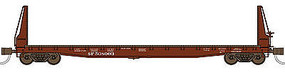 WheelsOfTime Welded Fish Belly Bulkhead Flatcar Southern Pacific N Scale Model Train Freight Car #50008