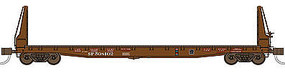 WheelsOfTime 70-Ton 536 Welded Fish Belly Bulkhead Flatcar SP N Scale Model Train Freight Car #50020