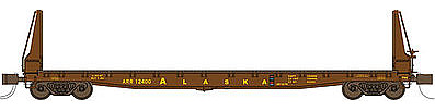 WheelsOfTime 70-Ton 536 Welded Fish Belly Bulkhead Flatcar ARR N Scale Model Train Freight Car #50030