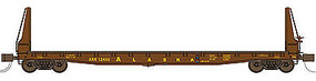 70-Ton 53'6'' Welded Fish Belly Bulkhead Flatcar ARR N Scale Model Train Freight Car #50030