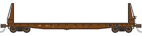 70-Ton 53'6'' Welded Fish Belly Bulkhead Flatcar ARR N Scale Model Train Freight Car #50036