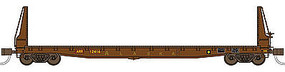 70-Ton 53'6'' Welded Fish Belly Bulkhead Flatcar ARR N Scale Model Train Freight Car #50037