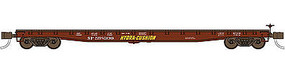 WheelsOfTime F-70-16 Standard Deck Flatcar Hydra-Cushion SP N Scale Model Train Freight Car #50040