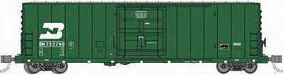 Wheels of Time PC&F 50' 70-Ton XLI Insulated Plug-Door Boxcar BN -- N Scale Model Train Freight Car -- #61054