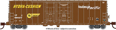 Wheels of Time 50' 70 Ton Boxcar BNSF Southern Pacific #694349 -- N Scale Model Train Freight Car -- #61105