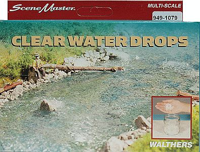 Walthers-Acc Water Drops Clear Model Railroad Scenery Supply #1079