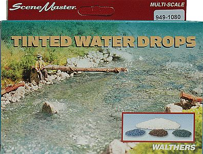 Walthers-Acc Water Drops Tinted Model Railroad Scenery Supply #1080