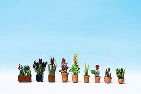 Walthers-Acc Potted Ornamental Plants Botanicals(TM) 9 Pack Model Railroad Grass Earth #1081