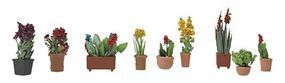 Walthers-Acc Flower Arrangements Botanicals(TM) 9 Pack HO Scale Model Railroad Grass Eart #1084
