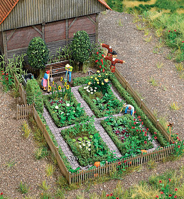 Walthers-Acc Vegetable Garden Kit HO Scale Model Railroad Accessory #1110