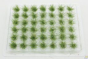 Walthers-Acc Grass Tufts - Summer - pkg(42) Tall Grass each- 1/2 1.2cm