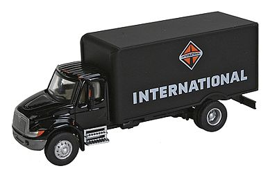 Walthers Accessories Intl 4300 1-Axl Van Blk - HO-Scale