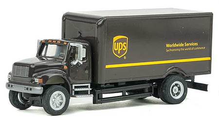 Walthers-Acc International(R) 4900 Single-Axle Box Van - Assembled United Parcel Service (Modern Shield Logo, brown, yellow)