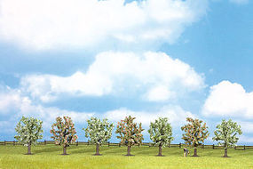 Walthers-Acc Blossoming Fruit Trees 7 Pack (3-1/8) HO Scale Model Railroad Tree #1163