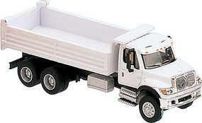 Walthers-Acc International(R) 7600 3-Axle Heavy-Duty Dump Truck Assembled White with Railroad Maintenance-of-Way logo decals