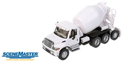 Walthers Accessories Intl 7600 3-Ax Cement Wht - HO-Scale