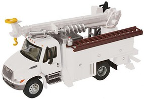 Walthers-Acc International(R) 4300 Utility Truck w/Drill - Assembled White w/Railroad Maintenance-of-Way Logo Decals