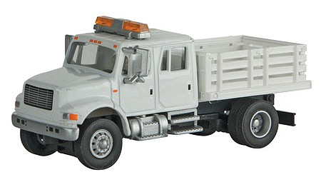 Walthers-Acc International(R) 4900 Open Stake Bed Utility Truck - Assembled White w/Railroad Maintenance-of-Way Logo Decals