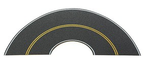 Walthers-Acc Flexible Self Adhesive Paved Roadway Vintage & Modern Curves - solid double yellow centerline, white edge marks