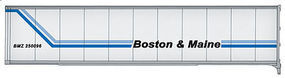 Walthers-Acc 45 Stoughton Trailer 2-Pack Boston & Maine HO Scale Model Train Freight Car Load #2206