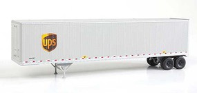 Walthers-Acc 48 Stoughton Trailer 2-Pack - Assembled United Parcel Service Modern Shield Logo