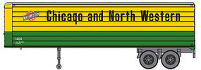 Walthers-Acc 35 Trailer 2-Pack - Assembled Chicago & North Western(TM)