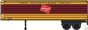 Walthers-Acc 35 Fluted-Side Trailer 2-Pack - Assembled Milwaukee Road