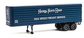 Walthers-Acc 35 Fluted-Side Trailer 2-Pack - Assembled Nickel Plate Road (blue, white; High Speed Freight Service)