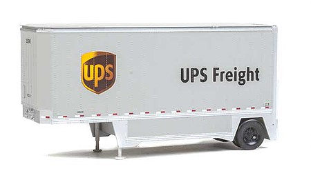 Walthers-Acc 26 Drop-Floor Trailer 2-Pack - Assembled United Parcel Service Modern Shield Logo