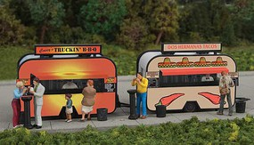 Walthers-Acc BBQ & Taco Food Trailers Kit