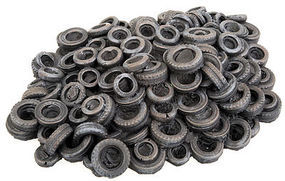Walthers-Acc Tires Scrap Pile 1-Piece Casting