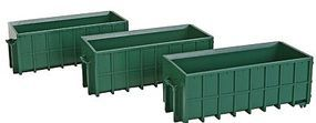 Walthers-Acc Large Dumpsters Green 3/ - HO-Scale (3)