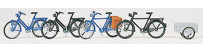 Walthers Accessories Bikes with Accessories (Unpainted) -- HO Scale Model Railroad Figure -- #4124