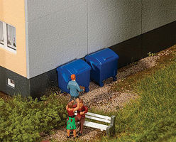 Walthers-Acc Modern Trash Containers (2) HO Scale Model Railroad Building Accessory #4126