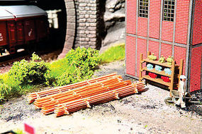 Walthers-Acc Stack of Rough Lumber Kits HO Scale Model Railroad Accessories #4131
