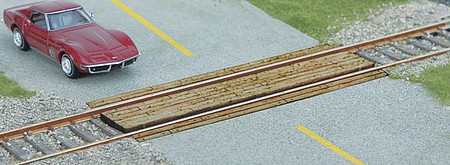 Walthers-Acc Wood Grade Crossing Laser-Cut Wood Kit - Single