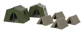 Walthers-Acc Camping Tents 4 Small, 2 Large
