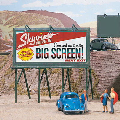 Walthers Accessories Plain Billboards 3/ - HO-Scale (3)