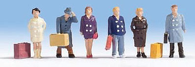 Walthers Accessories City Travelers -- HO Scale Model Railroad Figure -- #6023
