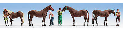 Walthers Accessories Horse Groom -- HO Scale Model Railroad Figure -- #6028