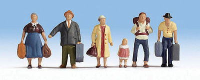 Walthers Accessories Passengers Ready to Board (6) -- HO Scale Model Railroad Figure -- #6040