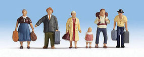 Walthers-Acc Passengers Ready to Board (6) HO Scale Model Railroad Figure #6040