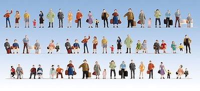 Walthers Accessories Passengers On the Platform (60) -- HO Scale Model Railroad Figure -- #6042