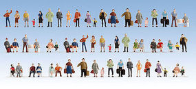Walthers-Acc Passengers On the Platform (60) HO Scale Model Railroad Figure #6042