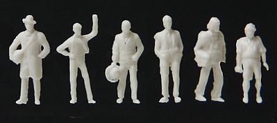 Walthers Accessories Traveling/Standing/Walking Figures Unpainted (72) -- N Scale Model Railroad Figure -- #6200