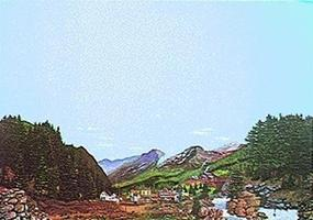 Walthers-Acc Sierra Boomtown (Gold Rush) Background Scene 24 x 36 Model Railroad Scenery Supply #701