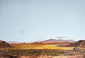 Walthers-Acc Saguaro Desert Background Scene 24 x 36 Model Railroad Scenery Supply #706